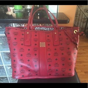 MCM authentic tote bag in red